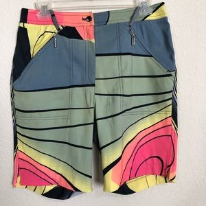 Jamie Sadock Multi Color Geometric Print Shorts